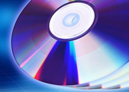 Blank CD or DVD illustration template  Great starting image for illustrating the concept of CD DVD as content holder of digital data  illustration