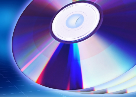 Blank CD or DVD illustration template  Great starting image for illustrating the concept of CD DVD as content holder of digital data Stock Illustration - 16158759