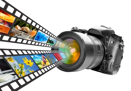 Digital Photography technology concept  Isolated in White Stock Photo - 16158762