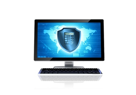 Secured computer conceptual image Stock Photo - 16802478