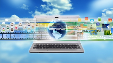 Internet Laptop for multimedia sharing and working