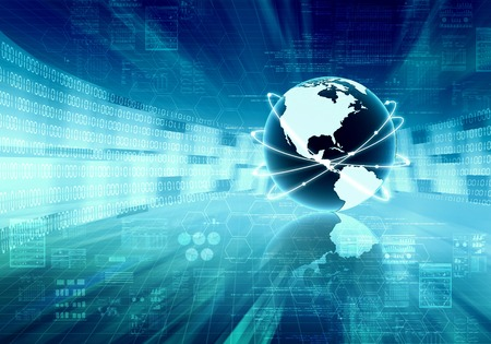 Internet conceptual background  Worldwide data sharing concept