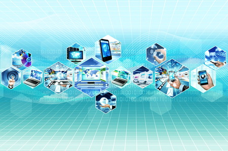 Internet-Multimedia-Konzept mit allen Gerät und Computer, die miteinander verbunden Standard-Bild - 29318318