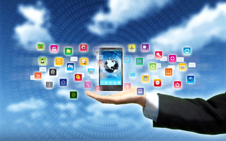 gadget: Smart phone as gadget or device to connect to internet, world wide web and multimedia application