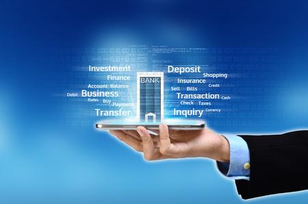 sistemas: Visualizaci�n del concepto de banca m�vil o Internet basado