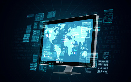 tecnolog�a informatica: Un equipo servidor de Internet haciendo procesamiento de datos y el c�lculo