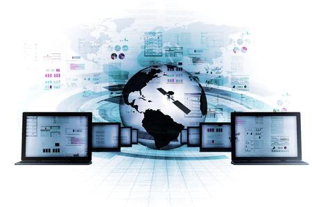 インターネットと情報技術の概念 写真素材