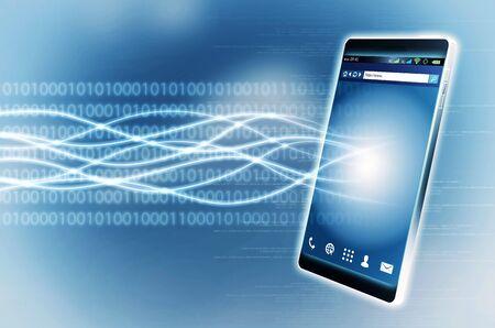 internet  broadband: Fast broadband Internet connection with Smart phone Stock Photo