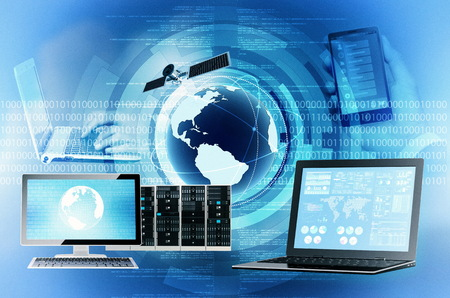 Conceptual image of information technology and internet in general Stock Photo