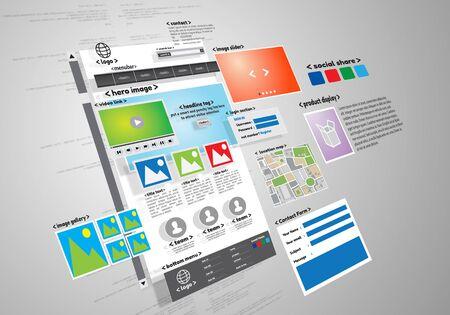 image conceptuelle de site web et projet de développement Banque d'images