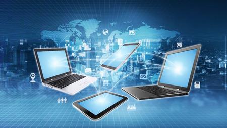 Images conceptuelles d'Internet et des technologies de l'information