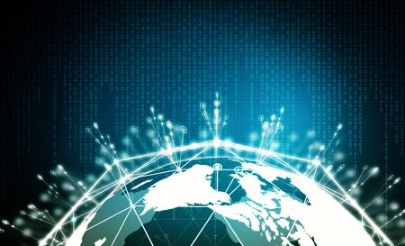 Internet Big data visualization. Conceptual image of internet information technology.