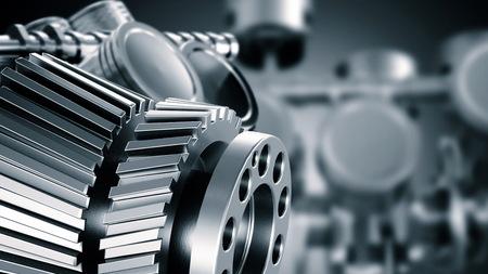 Visualización de CAD de diseño asistido por computadora en diseño mecánico o industrial e ingeniería de máquinas Foto de archivo