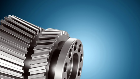 Visualization of Computer Aided Design CAD in mechanical or industrial design and machine engineering