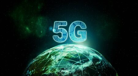 Internet 5G broadband wireless network connection technology Imagens
