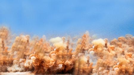 Powerful detonator blast on the site