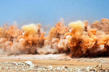 Detonator blasting on the construction site