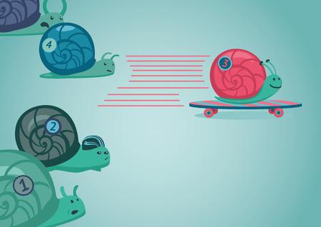 Snail race illustration