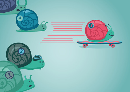 Snail race illustration
