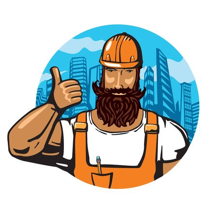 builder: Builder showing thumb up