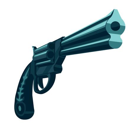 Handgun isolated on white Ilustrace