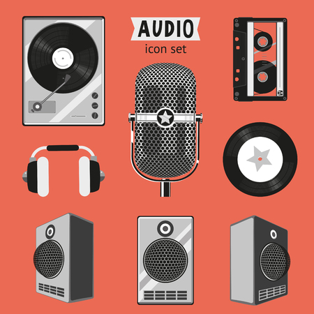 Audio icon set