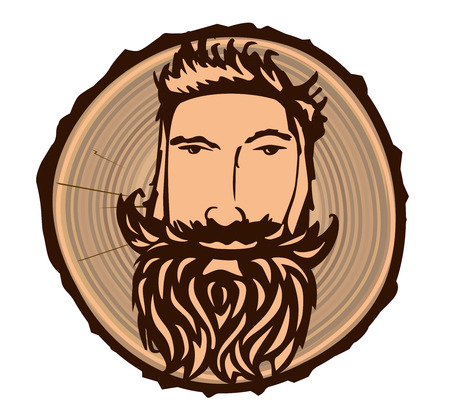 felling: Lumberjack with a wooden texture