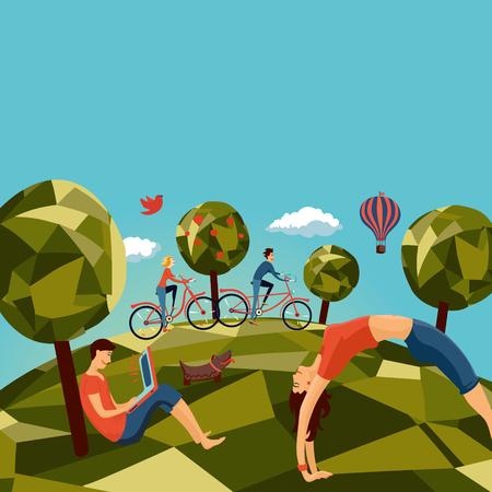 grupos de personas: Grupo de personas al aire libre