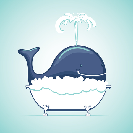 suds: Whale take bath with soap suds