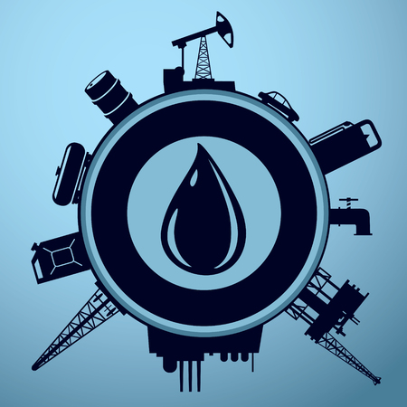 Oil industry sign
