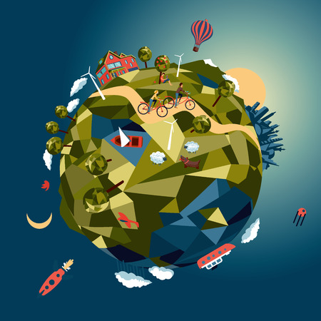 natural world: Little green planet Illustration