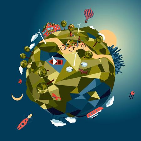 Little green planet Vettoriali