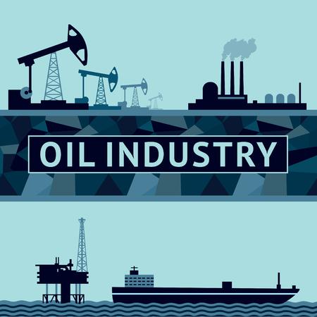 陸と海での石油生産