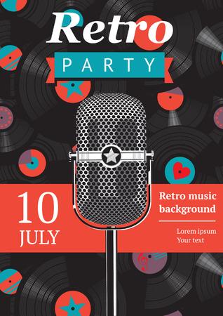 retro party poster Vettoriali
