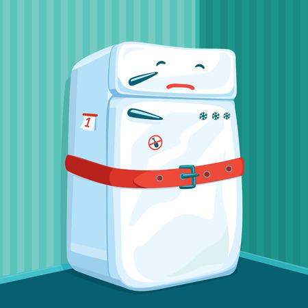 nevera: Refrigerador en la dieta uso del cinturón