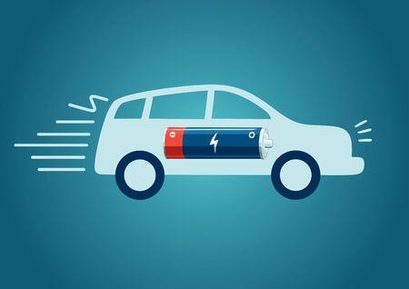electric car charging Illustration