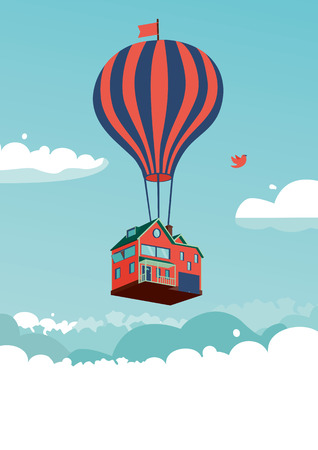 Haus über den Wolken