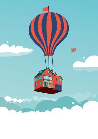 Maison-dessus des nuages