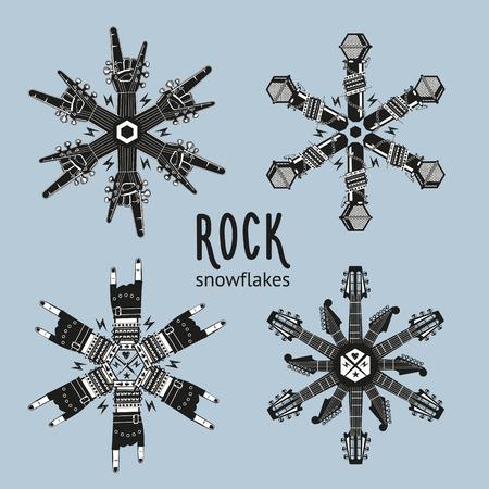 schneeflocke: Rock-Schneeflocken eingestellt