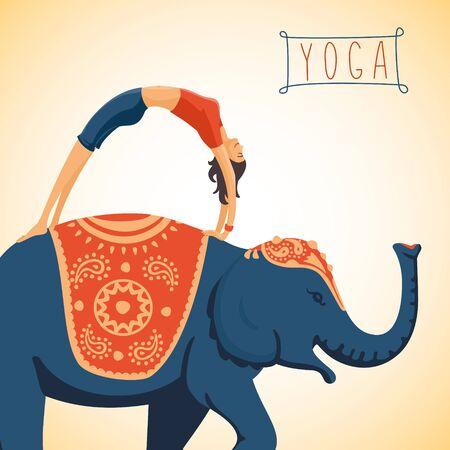 exoticism: Harmony and balance. Illustration