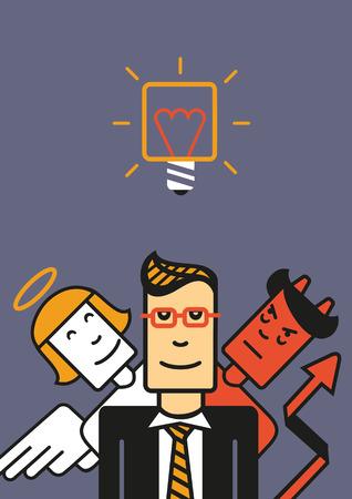 conscience: Bad and good advice Illustration