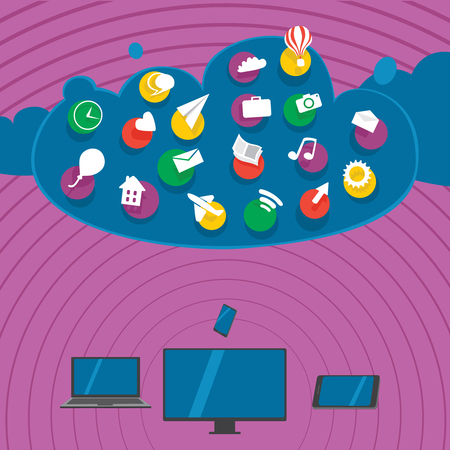 Devices synchronize data with cloud storage