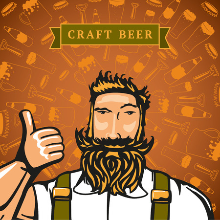 face centered: Craft beer design.