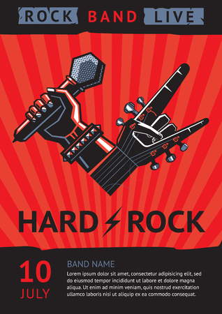 bands: rock concert poster