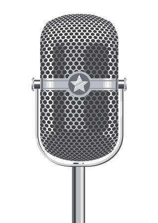 Retro Metallic Microphone