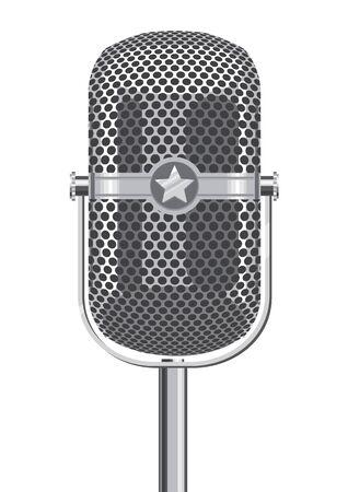 metallic: Retro Metallic Microphone