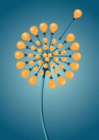 metamorphosis: The dandelion is made of light bulbs