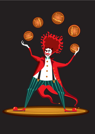 hell: Clown from hell with pumpkins