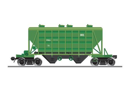 materials: Rail wagon for construction materials