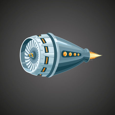 Modern reactive turbine on isolated background. Mechanic detail.